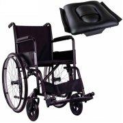 Инвалидная коляска OSD-ECO1-**+WC Economy, с санитарным оснащением