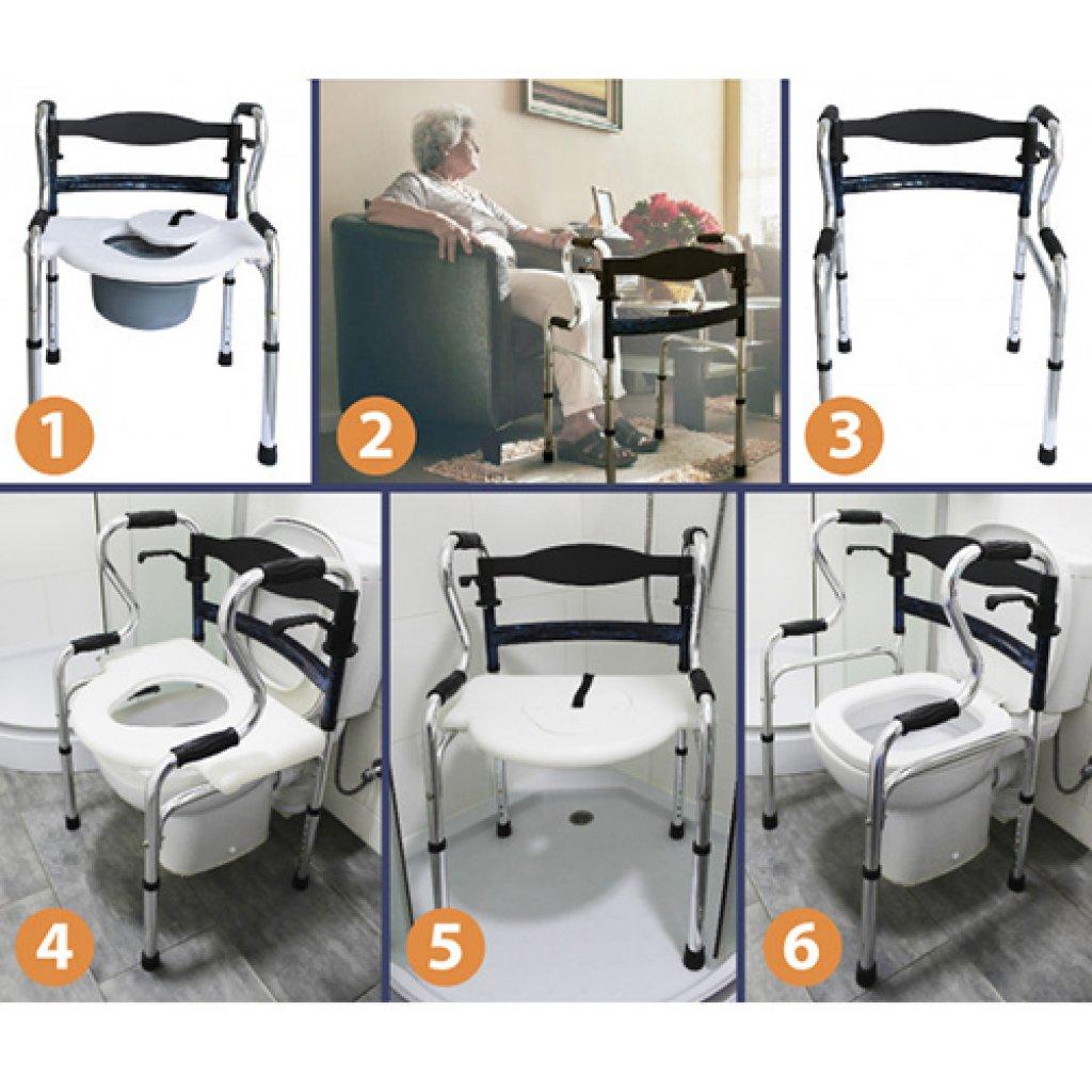 Ходунки-рамки с санитарным оснащением KJT909BS