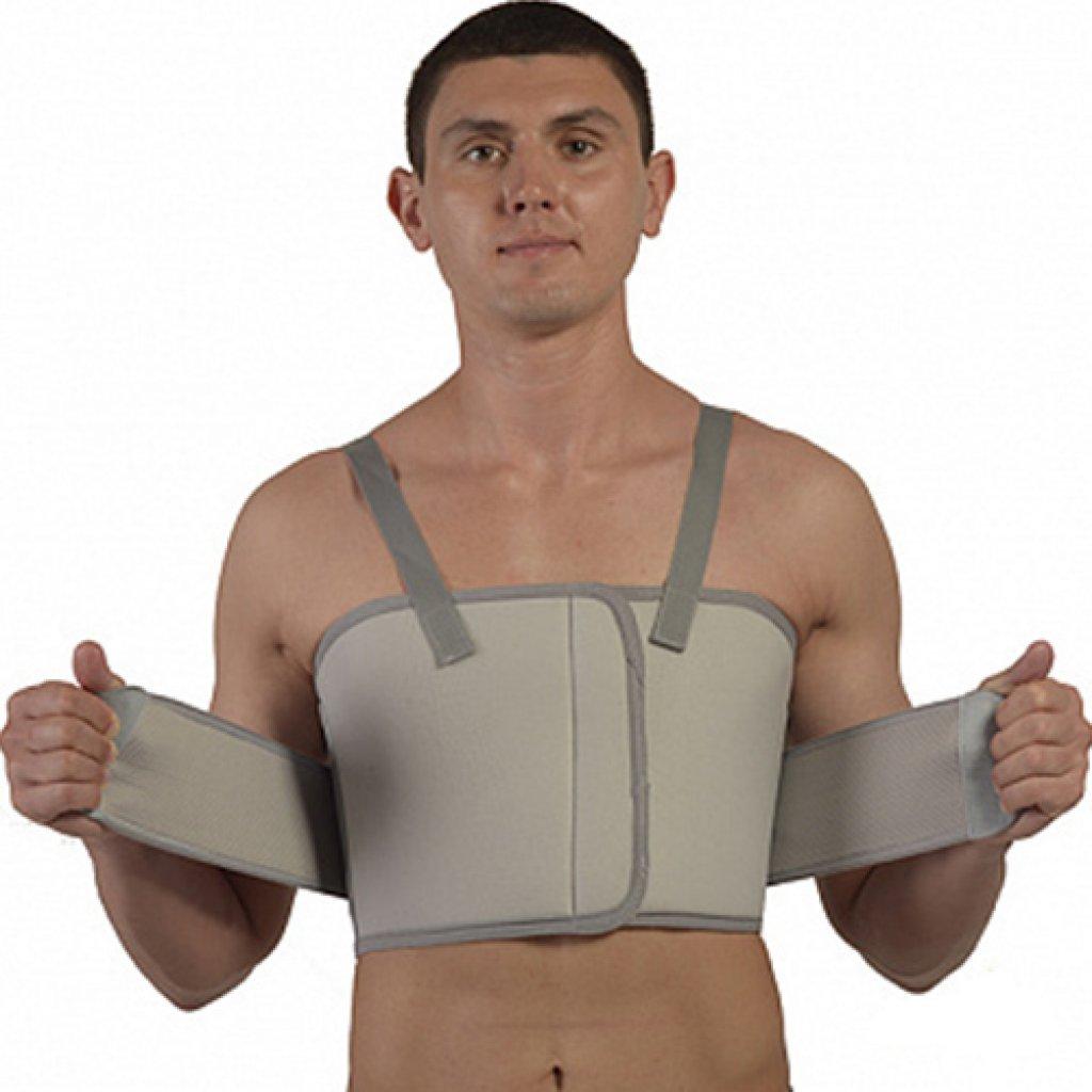 Послеоперационный бандаж Алком 2028 для грудной клетки мужской