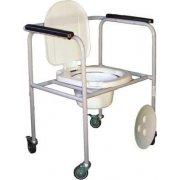 Стул туалетный стальной нерегулир. на колесиках СТР-2.1.0